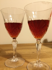 16 months (11 over fruit, 5 after filtering) from hedgerow to glass.