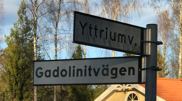 I'll meet you at the corner of Gadolinite Road and Yttrium Road...